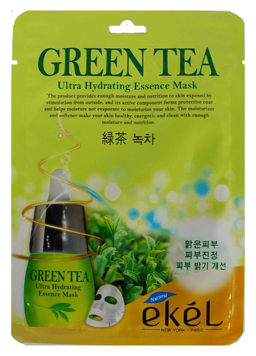 Ekel Маска тканевая с экстрактом зеленого чая, 25 гр.827426Ekel Green Tea Ultra Hydrating Essence Mask - Противовоспалительная и себорегулирующая тканевая маска с экстрактом зеленого чая.Обладает антиоксидантным действием, активирует клеточный обмен, защищает кожные покровы от свободных радикалов, восстанавливает повреждённые клетки и повышает упругость кожи.Полифенолы зеленого чая оказывают также противовоспалительное и антибактериальное действие, способствуют проникновению биологически активных веществ в кожу. Содержащийся в экстракте кофеин улучшает микроциркуляцию крови и питание кожи, уменьшает отечность; танины придают коже упругость.Экстракт богат эфирными маслами и витаминами С, К и группы В. Витамин В2, содержащийся в зеленом чае, обладает ранозаживляющими свойствами. Помимо этого зеленый чай активизирует кровообращение, снабжает клетки кислородом, усиливает защитные свойства кожи. Дубильные вещества зеленого чая создают на коже плотную пленку, оказывающую бактерицидное воздействие.Экстракт зеленого чая не только механически, но и биохимически очищает поры, ликвидирует сухость кожи, улучшает микроциркуляцию в тканях, укрепляет стенки мельчайших сосудов. Успокаивает кожу, улучшает цвет лица и придает сияние коже.Обладает антиоксидантным эффектом.