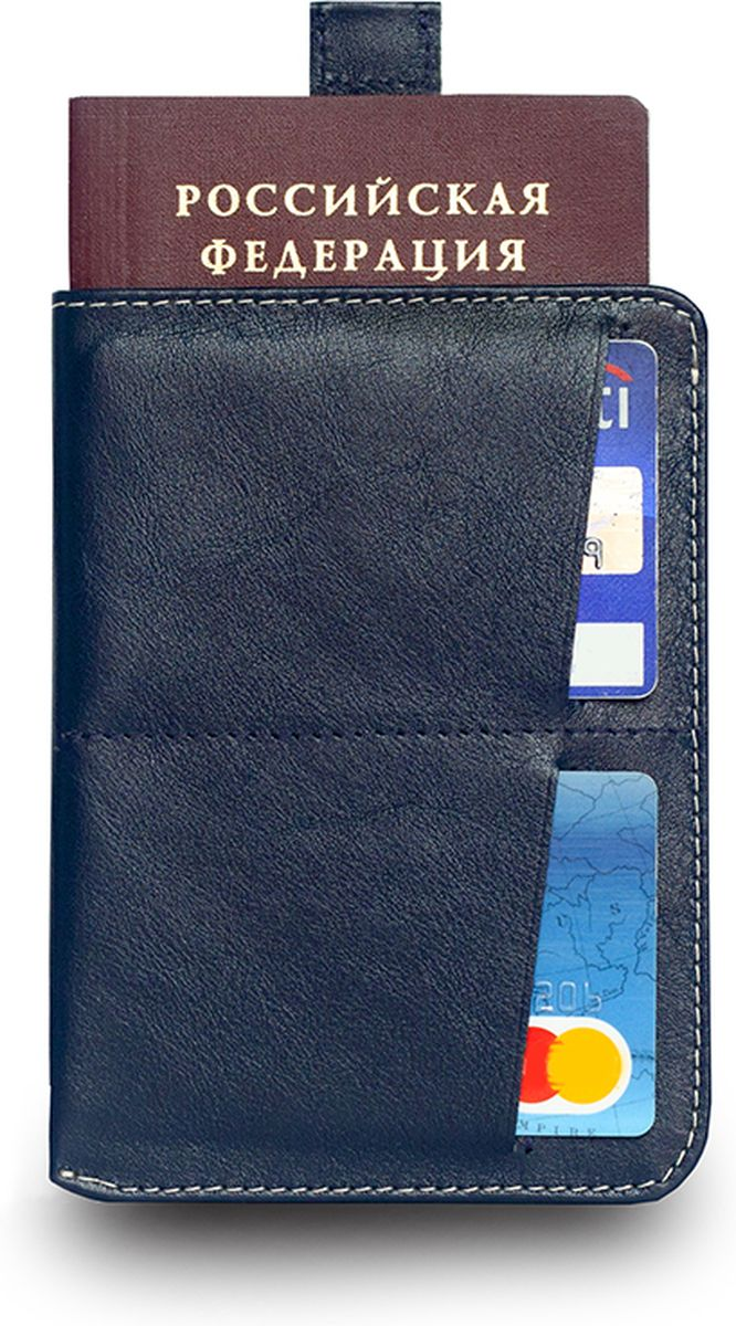 Обложка для паспорта Zavtra, цвет: темно-синий. zav03bluНатуральная кожаОбложка для документов Zavtra — это лучшее средство от бюрократической скуки.В нее может войти все необходимое и сразу — паспорт, права, пластиковые карты и даже купюры или, например, посадочный талон. Паспортэффектно извлекается при помощи специального «язычка» — пользоваться ей одно удовольствие. Входит и выходит.В обложке предусмотрен основной отсек для паспорта, два отсека под пластиковые карты и обратный глубокий карман свободного назначения.