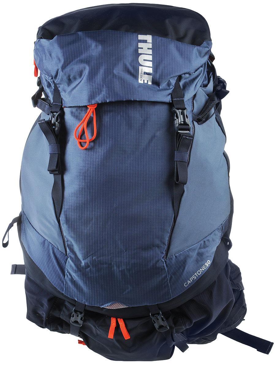 Рюкзак туристический мужской Thule Capstone, цвет: синий, 50 л223101Туристический мужской рюкзак Thule Capstone идеален для однодневного пешего похода или непродолжительного похода легкого уровня. Имеет полностью регулируемую подвеску, воздухопроницаемую заднюю панель и вшитый дождевой чехол. Система крепления MicroAdjust позволяет отрегулировать ремень для торса на 10 см при надетом рюкзаке, чтобы добиться идеальной посадки. Сеточная задняя панель натягивается, обеспечивая превосходную воздухопроницаемость и позволяя вам не потеть и оставаться сухим в пути. Яркая съемная накидка от дождя обеспечивает сухость ваших принадлежностей во время ливней. Карманы с застежкой-молнией на крышке и набедренном ремне для хранения солнцезащитных очков и других мелких предметов. Доступ сверху, сбоку и снизу позволяет легко добраться до содержимого в дороге, а также загружать рюкзак и вынимать из него вещи. Эластичный карман Shove-it Pocket обеспечивает быстрый доступ к часто используемым предметам. Боковые стягивающие ремни позволяют закрепить груз на петлях или снаружи рюкзака. Крепления для трекинговых палок и ледоруба с эластичными стропами можно убрать, если они не используются. Конструкция, предназначенная для хранения воды, включает карман для емкости с водой, отверстие для трубки и два боковых кармана для бутылок с водой.Что взять с собой в поход?. Статья OZON Гид