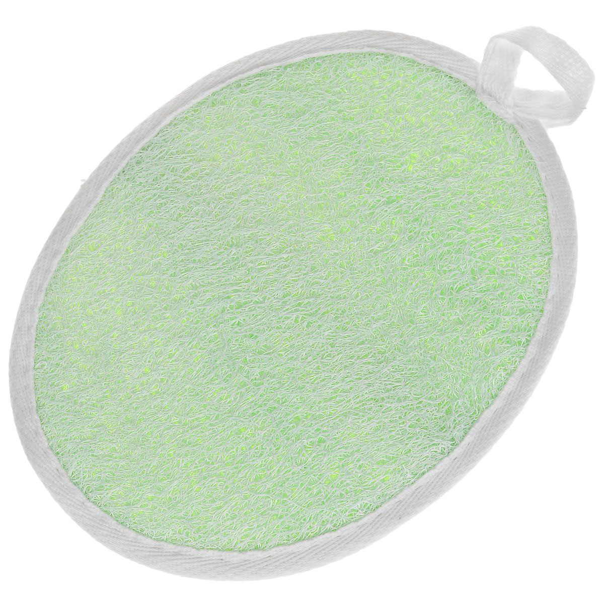 Мочалка Eva Овал, цвет: салатовый, 14 см х 18 см мочалка из люфы eva м22 page 4