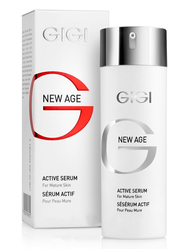 GIGI Активная сыворотка New Age, 30 мл113Концентрированный экстракт активных веществ в виде легкой эмульсии, дающий хороший результат в омоложении кожи лица и шеи. Применяется для ежедневного использования или в качестве восстанавливающего курса в периоды стресса, после диеты или в период смены сезонов. Действие: Содержит фитоэстрогены, способствующие разглаживанию старых и предупреждению новых морщин, в результате чего улучшается микрорельеф кожи, повышается упругость и тонус. Биогенные стимуляторы (протеин сои и зародышей пшеницы) увеличивают плотность межклеточного вещества и толщину эпидермиса. С первых дней применения кожа на лице разглаживается, становится гладкой и свежей, овал лица выравнивается, кожа лучше сопротивляется процессу старения. Активные ингредиенты: Экстракт бурой водоросли, гидролизированный протеин пшеницы, лецитин, экстракт зародышей сои, аллантоин, гидролизированный соевый протеин.
