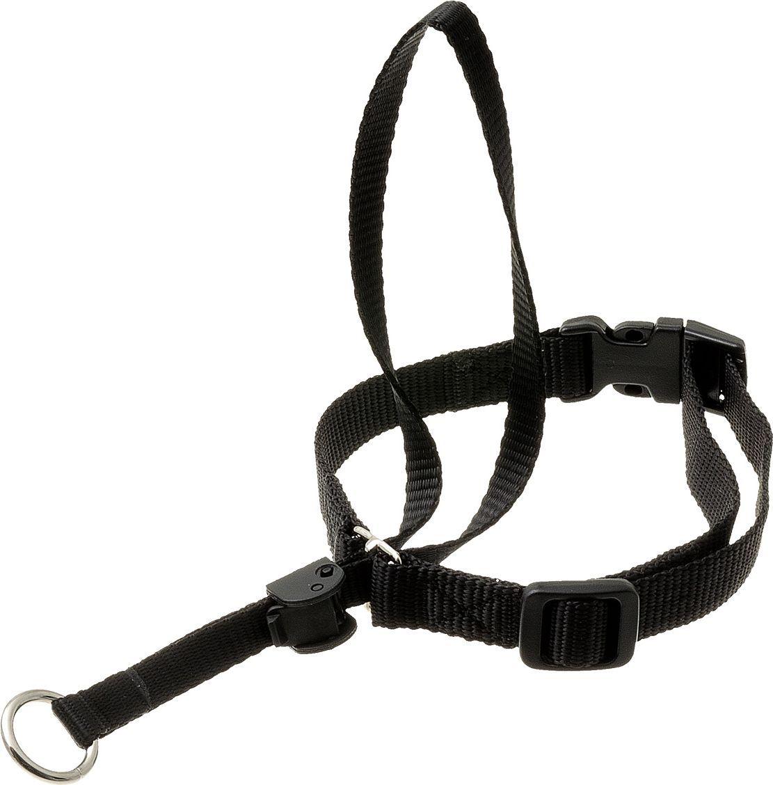Недоуздок для собак V.I.Pet, цвет: черный. Размер 2 (шея 35-46 см) недоуздок для собак в иркутске