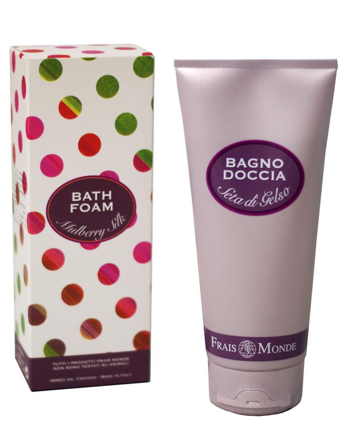 Frais Monde Гель для душа - Пена для ванны с ароматом шелка тутового дерева, 200 млFMFBD35Нежная и мягкая пена для расслабляющей ванны, обволакивает кожу и оставляет приятный аромат. Благодаря особой мягкой формуле пену для ванны можно использовать в качестве геля для душа. После принятия ванны кожа становится бархатной и увлажненной Не содержит парабенов, ПЭГ и никеля. DIO AGRI CERT.