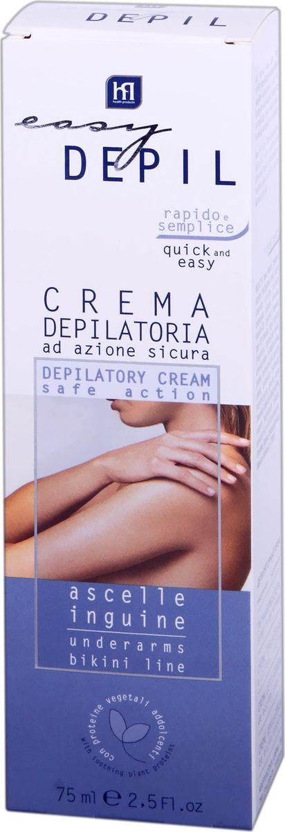 Easy Depil Депилирующий крем для чувст. обл. 75 мл. acorelle крем замедляющий рост волос для тела французский трюфель флакон 75 мл acorelle