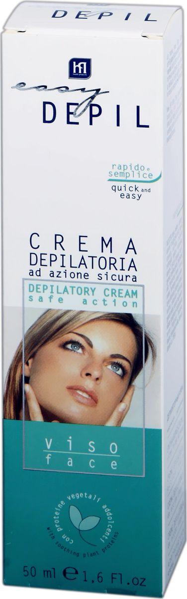 Easy Depil Депилирующий крем для лица 50 мл.66015• Деликатно удаляет нежелательные волоски на чувствительной коже лица • Подходит для любого типа кожи, не пересушивает даже сухую, раздраженную кожу • Не оставляет красноты и жирных следов • Высокая степень дерматологической безопасностиАктивные компоненты:Гидроксид кальция, тиогликолевая кислота, протеины пшеницы, шелка и сладкого миндаля, экстракт карликового дуба, лецитин, глицерил олеат