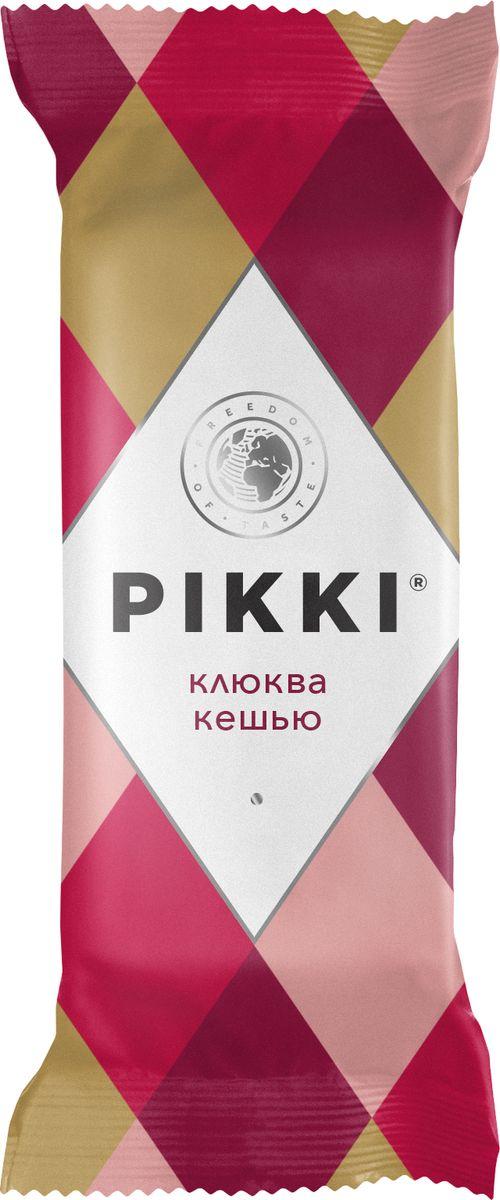Pikki Клюква-Кешью батончик орехово-фруктовый мягкий, 35 г pikki мюсли кокос кешью шоколад батончик орехово фруктовый 50 г