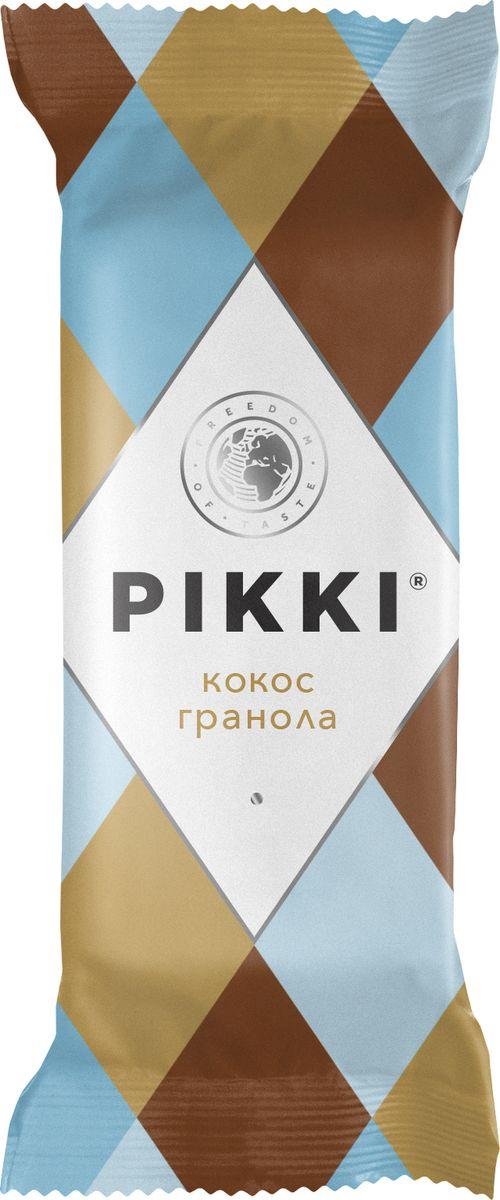 Pikki Кокос-Гранола батончик орехово-фруктовый, 35 г pikki мюсли кокос кешью шоколад батончик орехово фруктовый 50 г