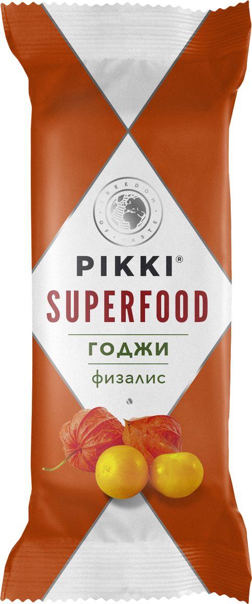 Pikki Годжи-Физалис батончик орехово-фруктовый, 35 г pikki мюсли кокос кешью шоколад батончик орехово фруктовый 50 г
