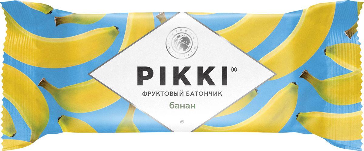 Pikki Банан-Яблоко батончик орехово-фруктовый, 25 г pikki мюсли кокос кешью шоколад батончик орехово фруктовый 50 г
