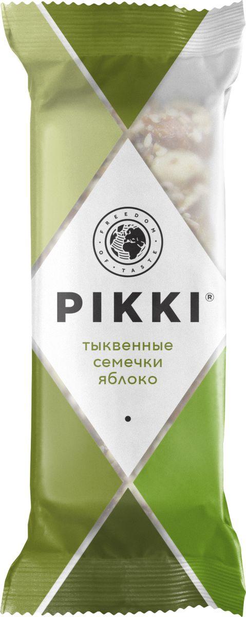 Pikki Тыквенные семечки-Яблоко батончик орехово-фруктовый, 35 г pikki мюсли кокос кешью шоколад батончик орехово фруктовый 50 г