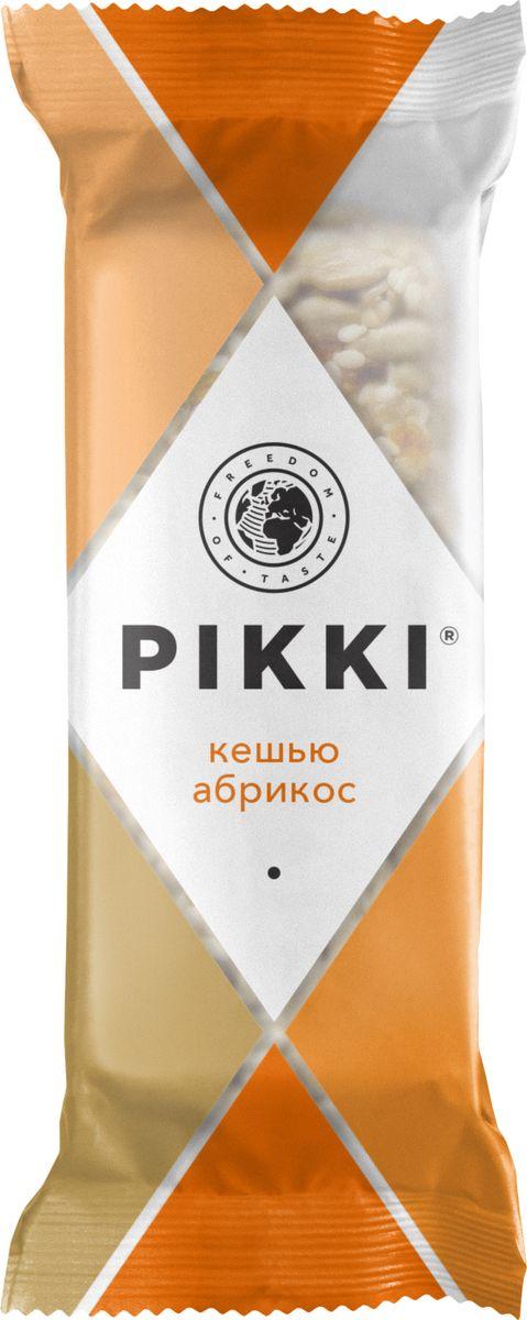 Pikki Кешью-Абрикос батончик орехово-фруктовый, 35 г pikki мюсли кокос кешью шоколад батончик орехово фруктовый 50 г