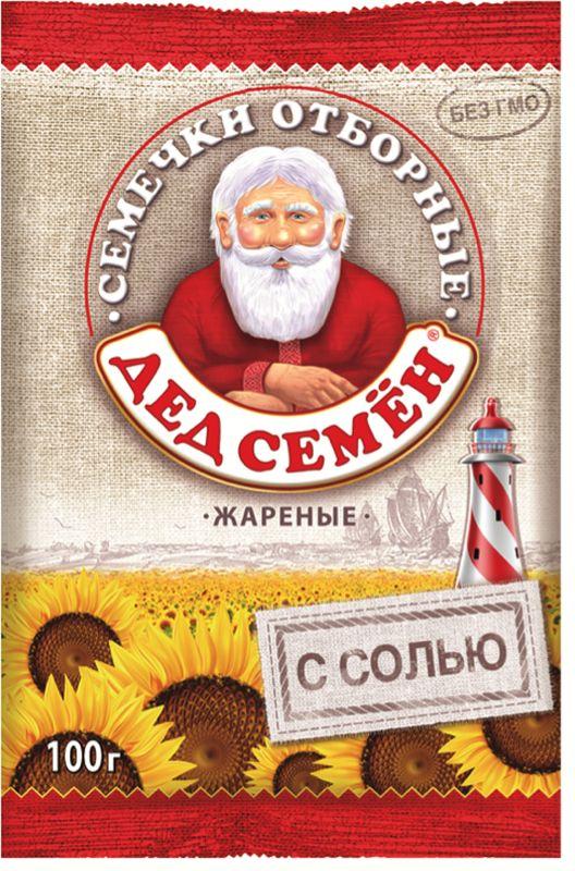 Дед Семен семечки отборные соленые, 100 гУТ040810342Семечки отборные подсолнечника жареные соленые.