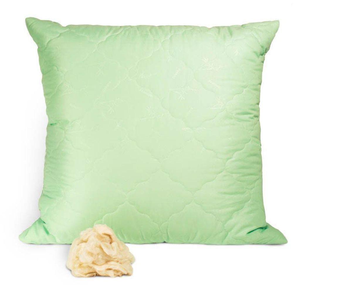 Подушка Peach, упругая, наполнитель: бамбуковое волокно, 70 х 70 смpch222657Упругая подушка Peach прекрасно подойдет тем, кто спит на боку. Наполнитель чехла выполнен из бамбукового волокна. Волокно бамбука - это натуральный материал, добываемый из стеблей растения. Он обладает способностью быстро впитывать и испарять влагу, а также антибактериальными свойствами, что препятствует появлению пылевых клещей и болезнетворных бактерий. Изделия с наполнителем из бамбука легко пропускают воздух. Они отличаются превосходными дезодорирующими свойствами, мягкие, легкие, простые в уходе, гипоаллергенные и подходят абсолютно всем. Наполнитель ядра подушки - силиконизированное волокно (искусственный лебяжий пух). Чехол выполнен из микрофибры (100% полиэстер). Подушка простегана и окантована. Стежка надежно удерживает наполнитель внутри и не позволяет ему скатываться.