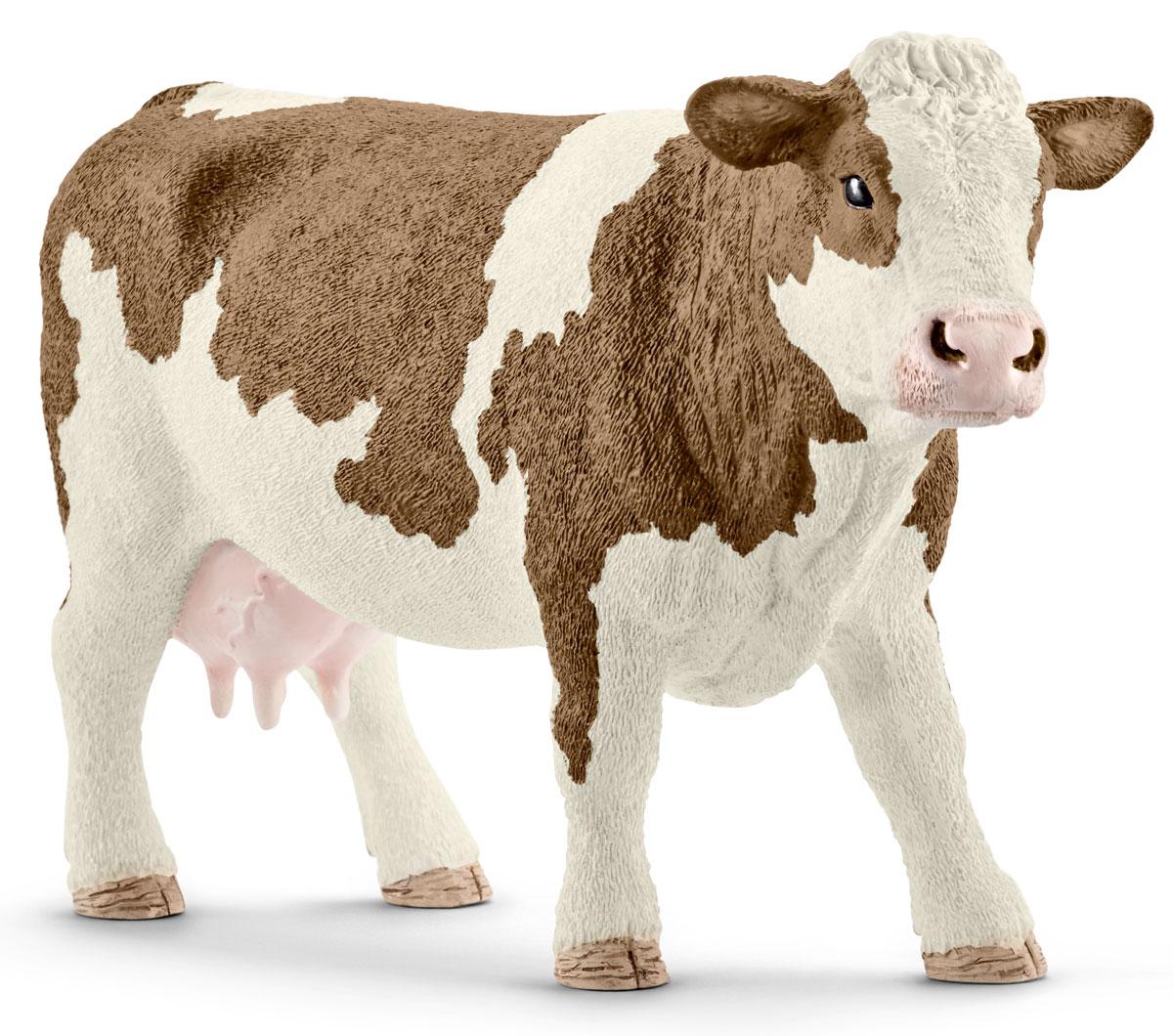 Schleich Фигурка Симментальская корова 13801 schleich гольштинская корова