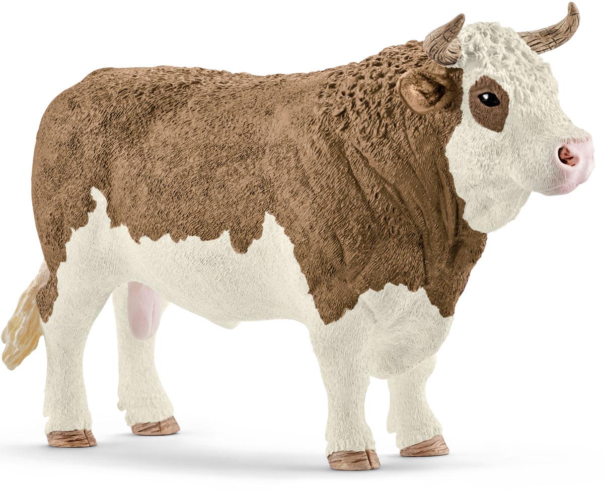 Schleich Фигурка Симментальский бык schleich корм для коров и телят