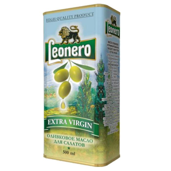 Leonero оливковое масло нерафинированное для салатов, 500 ггзж004Великолепное оливковое масло произведено на территории Испании по традиционной технологии из классических сортов оливок.