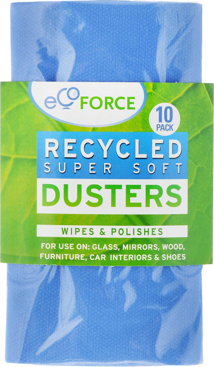 Салфетка для уборки EcoForce, супермягкая, цвет: синий, 10 шт116-02-1406/4065_голубойСалфетка для уборки EcoForce изготовлена из вискозы и полиэстера, на 97% состоит из перерабатываемого сырья. Предназначена для сухой и влажной уборки с моющими средствами. Такой салфеткой удобно вытирать пыль и полировать стекло, зеркала, мебель, деревянные поверхности, салон автомобиля, обувь. В комплекте 10 салфеток.