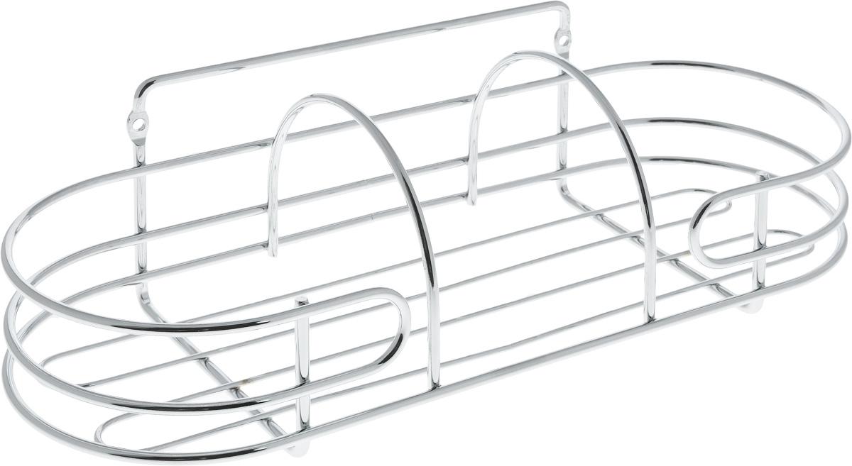 Корзина навесная для ванной Swensa, 32 х 12,5 х 11,8 смSWR-3103AКорзина навесная для ванной Swensa выполнена извысококачественной стали с хромированным покрытием. Имеетзакругленную форму. Для установки предусмотреныспециальные отверстия. Изделие отлично подойдет дляхранения шампуня, геля для душа и многого другого.Корзина дополнит любой интерьер ванной комнаты, онаотличается высоким качеством и лаконичным внешним видом.