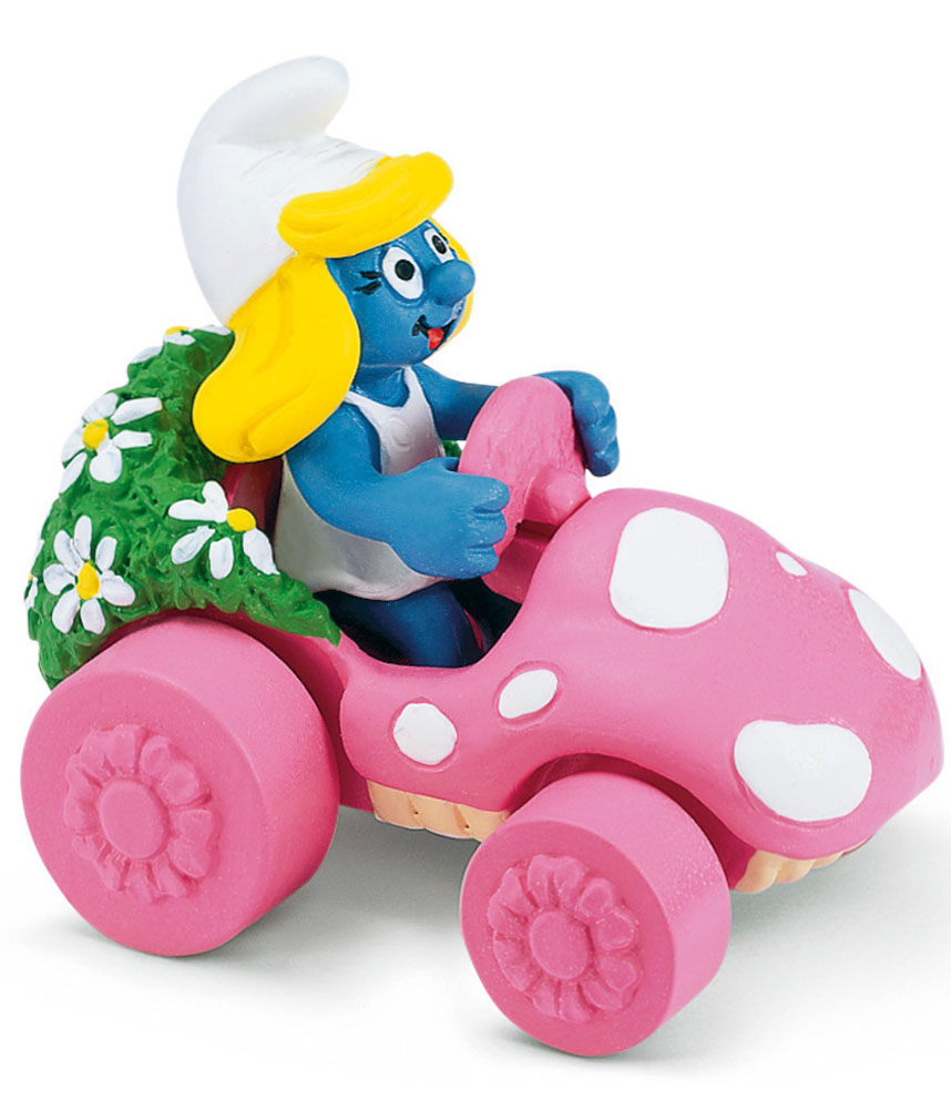 Schleich Фигурка Гномик в розовой машинке