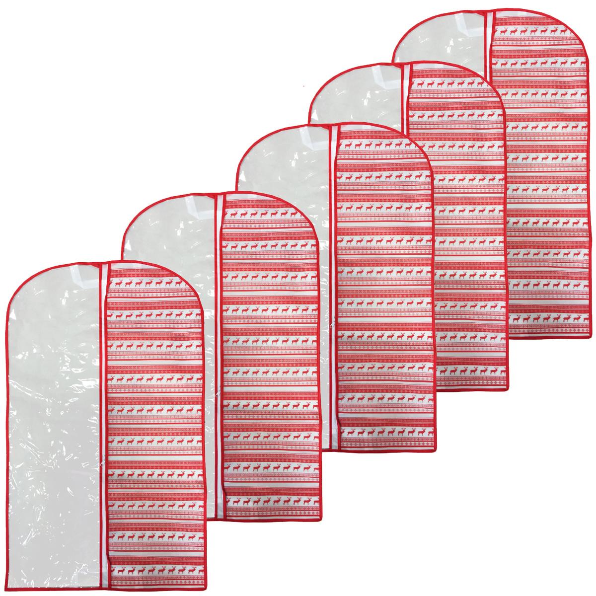 Набор чехлов для одежды Homsu Scandinavia, 60 х 120 х 10 см, 5 штDEN-81Удобный набор чехлов для одежды Homsu Scandinavia, выполненных из поливинилхлорида и спанбонда, обеспечит надежное хранение вашей одежды, защитит от повреждений во время хранения и транспортировки, а также от пыли и грязи. Чехлы легко чистятся при помощи влажной тряпки. Изделия дополнены застежкой-молнией и оформлены принтом.