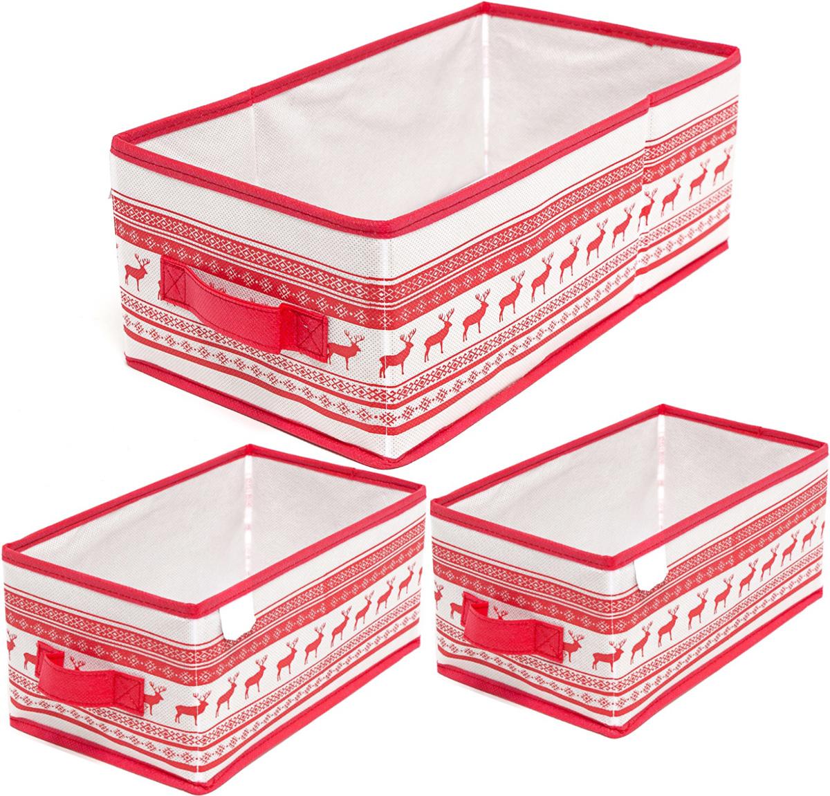 Набор кофров для хранения Homsu Scandinavia, 3 штDEN-83Набор кофров для хранения Homsu Scandinavia, выполненный из спанбонда и картона,состоит из трех универсальных коробочек, оптимальный размер которых позволяет хранить в них любые вещи и предметы. Все они имеют жесткие борта, что является гарантией сохранности вещей.
