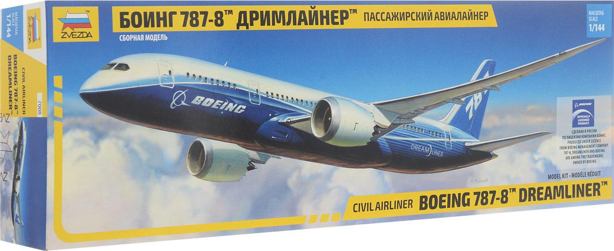 Звезда Сборная модель Пассажирский авиалайнер Боинг 787-8 Дримлайнер