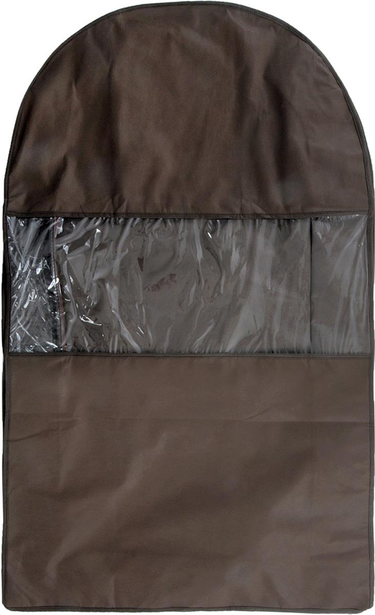 Чехол для шубы Все на местах Minimalistic. Lux, цвет: коричневый, 100 х 18 х 58 см1015033.Чехол Все на местах Minimalistic. Lux изготовлен из сочетания спанбонда и ПВХ. Изделие предназначено для хранения шуб. Нетканый материал чехла пропускает воздух, что позволяет изделиям дышать. Благодаря пластиковым вставкам, чехол идеально держит форму и его стенки не соприкасаются с мехом изделия и не приминают его. С таким чехлом шуба надежно защищена от моли, пыли и механического воздействия. Застегивается на застежку-молнию.Материал: спанбонд, ПВХ.Размеры: 100 х 18 х 58 см.