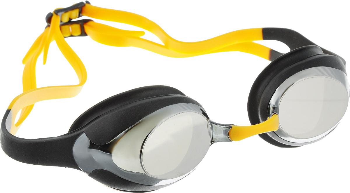 Очки для плавания Speedo Merit Mirror, цвет: черный, серый27737649Удобные очки Speedo Merit Mirror с двойным силиконовым ремешком предназначены для спортивного плавания. Гипоаллергенный уплотнитель и ремешок очков выполнены из силикона. Сменные носовые дужки для индивидуальной подстройки. Линзы с зеркальным покрытием снижают яркость бликов в воде. AntiFog препятствует запотеванию линз.