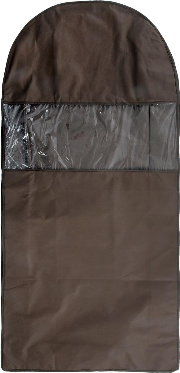 Чехол для шуб Все на местах Minimalistic. Lux, цвет: коричневый, 130 х 18 х 58 см1015032.Чехол Все на местах Minimalistic. Lux изготовлен из сочетания спанбонда и ПВХ. Изделие предназначено для хранения шуб. Нетканый материал чехла пропускает воздух, что позволяет изделиям дышать. Благодаря пластиковым вставкам, чехол идеально держит форму и его стенки не соприкасаются с мехом изделия и не приминают его. С таким чехлом шуба надежно защищена от моли, пыли и механического воздействия. Застегивается на застежку-молнию.Материал: спанбонд, ПВХ.Размеры: 130 см х 18 см х 58 см.