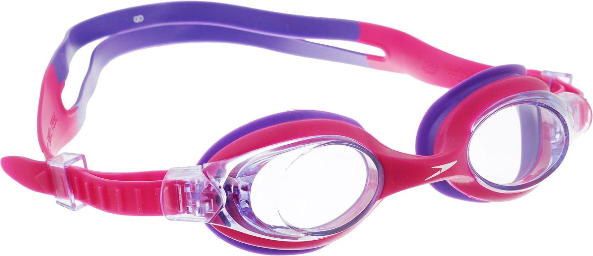 Очки для плавания Speedo Skoogle, детские, цвет: розовый, фиолетовый speedo очки для плавания детские speedo jet