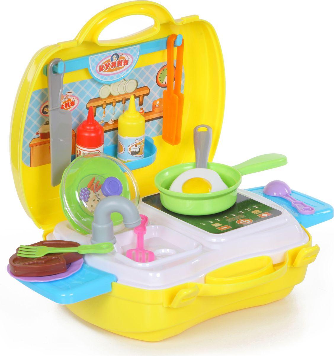 Yako Игровой набор Кухня 22 предмета в чемоданчике игровые наборы yako игровой набор кухня