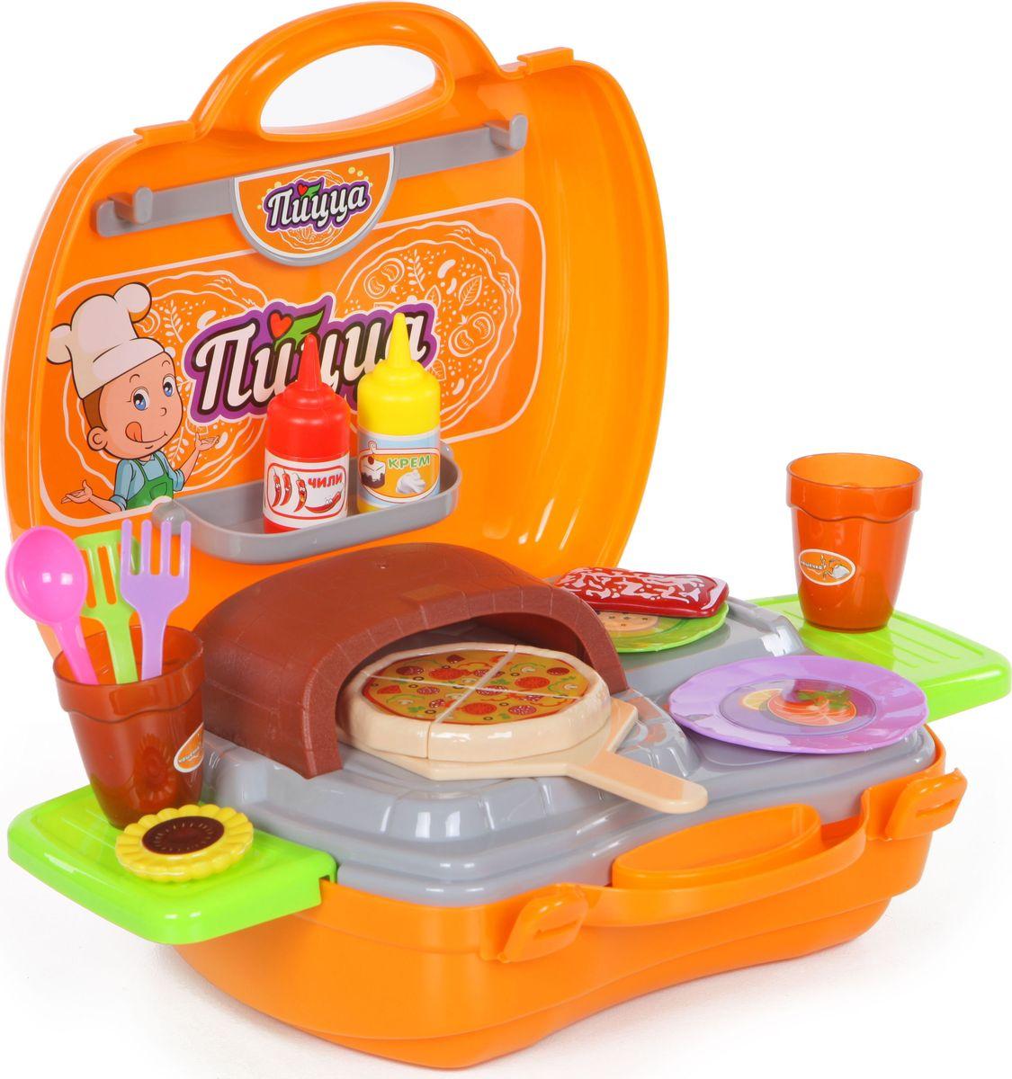 Yako Игровой набор Пицца 36 предметов в чемоданчике yako игровой набор гараж 4 уровня y3941870