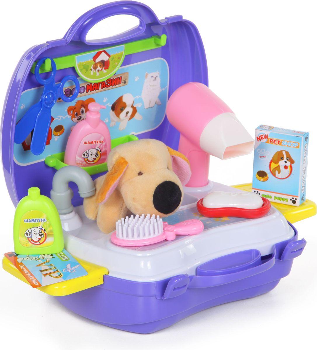 Yako Игровой набор Зоомагазин 18 предметов в чемоданчике yako игровой набор гараж 4 уровня y3941870