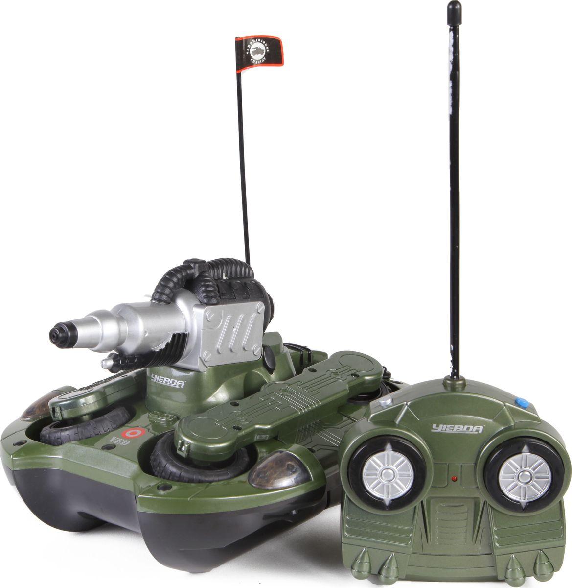 Yako Танк на радиоуправлении Амфибия Y12272002 игрушка yako танк r6107 1