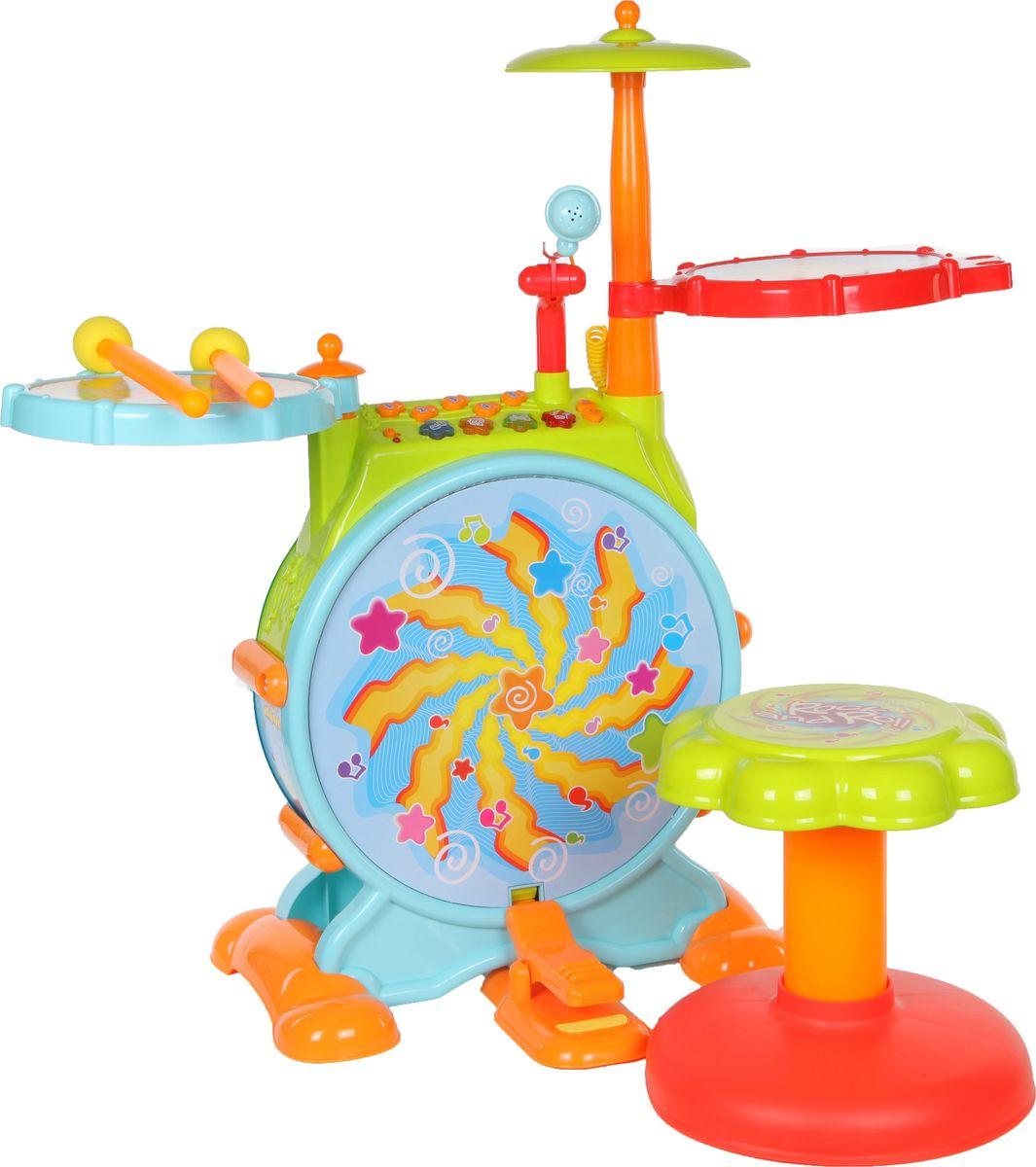 Huile Toys Музыкальный центр для малышей с барабанной установкой Y61142 - Музыкальные инструменты