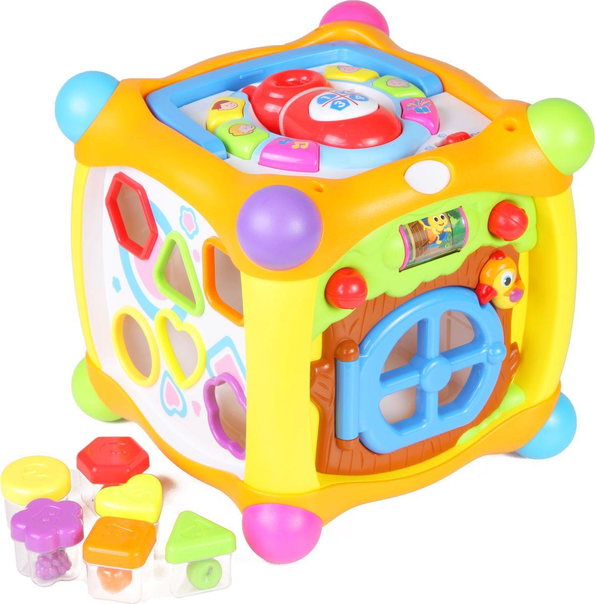 Huile Toys Развивающий игровой центр для малышей Куб Y61170