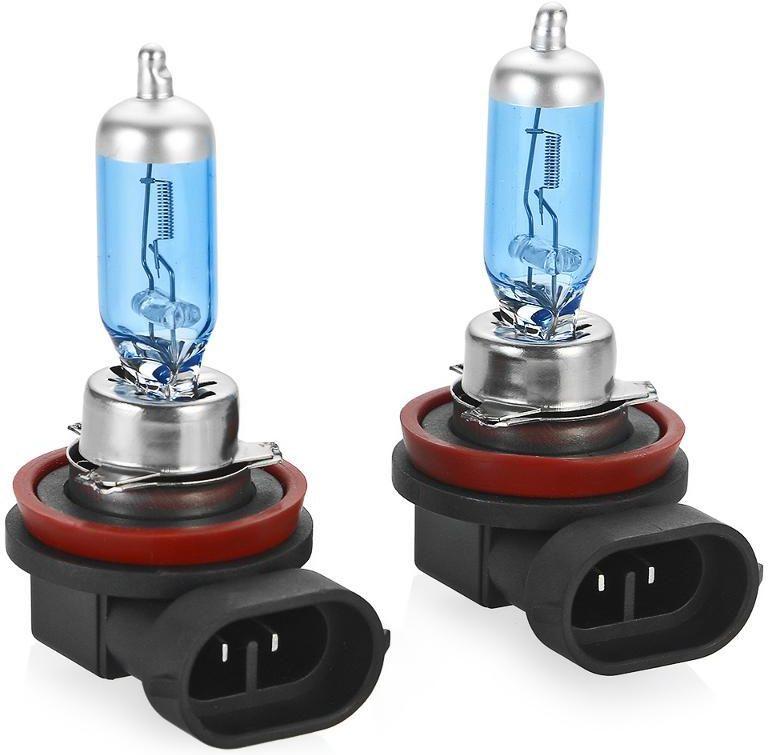 Лампа автомобильная галогенная Clearlight H11 XenonVision, 2 штMLH11XVXenonVision. Цветовая температура 6000К. В колбе используется уникальная ксеноновая смесь высокого давления, что позволяет сделать нить накала тоньше и длиннее. Цвет света распределен от белого по центру фары к насыщенно-белому в середине и слегка с голубым оттенком цвета к краю пучка света.