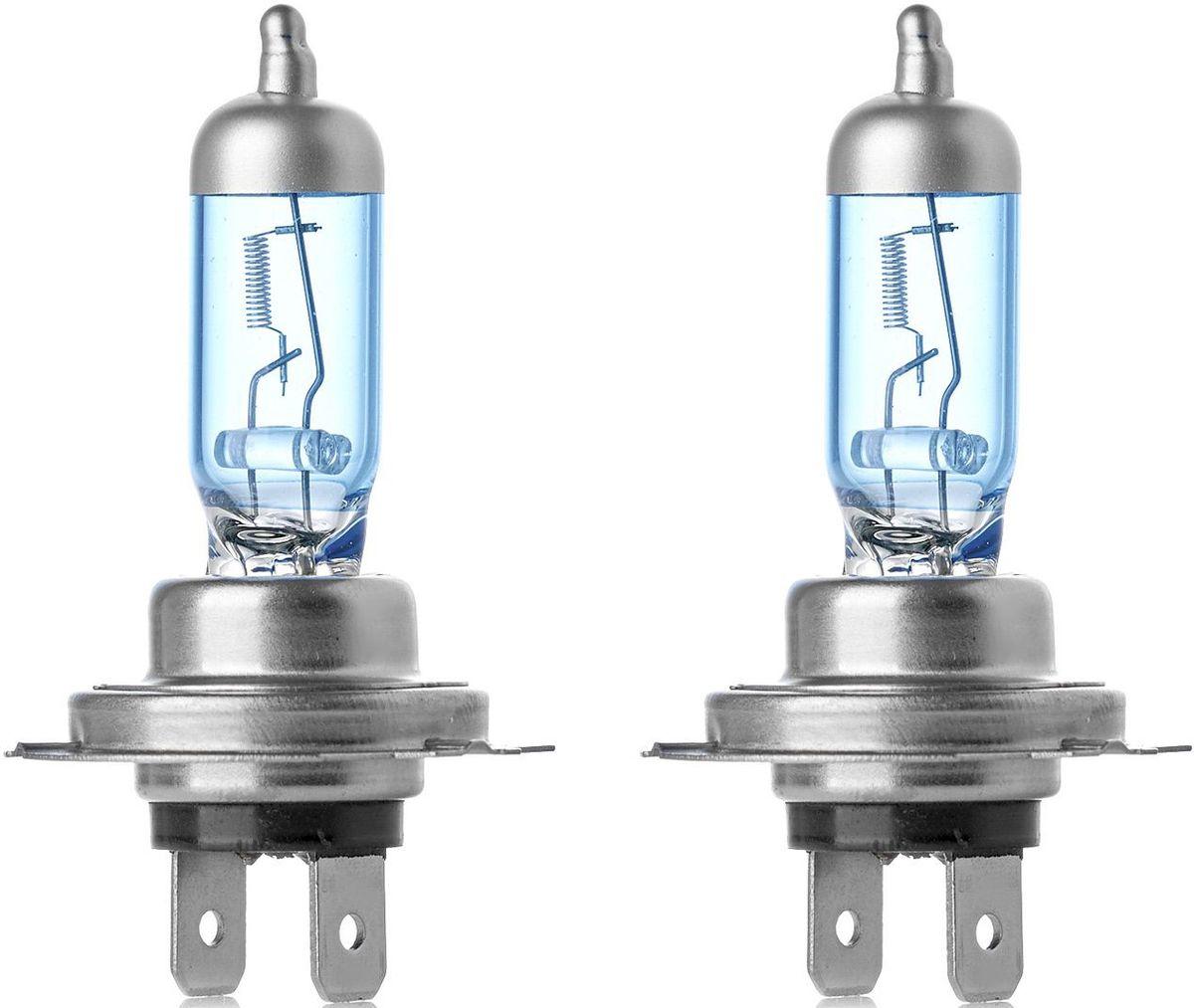 Лампа автомобильная галогенная Clearlight H7 WhiteLight, 2 штMLH7WLWhiteLight. Цветовая температура 4300К. Голубовато-белый свет. Производит такое же впечатление, что и свет стандартных ксеноновых ламп. Идеально подходит для использования в фарах с прозрачным стеклом. Современный дизайн с серебряным колпачком.