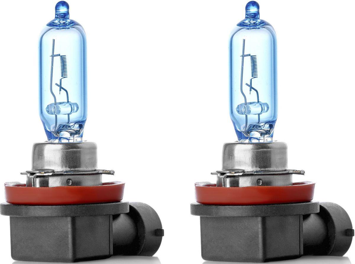Лампа автомобильная галогенная Clearlight X-treme Vision +120% Light, Н9, 12V, 65W, 2 штMLH9XTV120Галогенная автомобильная лампа Clearlight X-treme Vision +120% Light дает увеличенный на 120% световой поток по сравнению со стандартными лампами, сохранив регламентированные стандарты мощности за счет увеличения длины нити накаливания, дополнительных витков спирали и специального состава газа в колбе. Цветовая температура смещена в сектор белого света, вместо желтоватого оттенка. Лампа оптимальна для прохождения техосмотра и идеально подходит как для линзованной оптики, так и для обычных отражателей FF.
