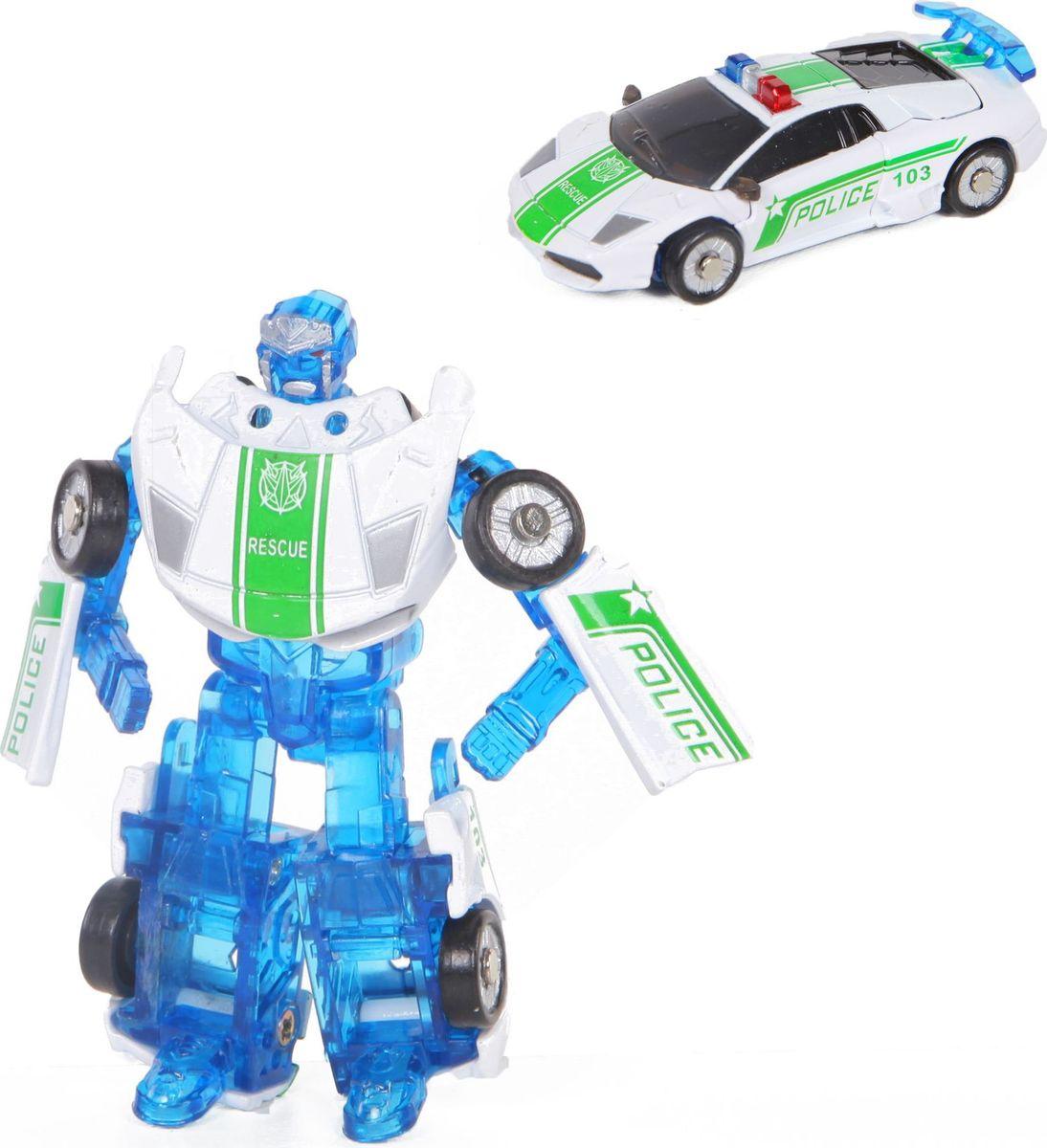 Yako Робот-трансформер цвет белый синий Y3686108-2 интерактивные игрушки yako робот y2055209