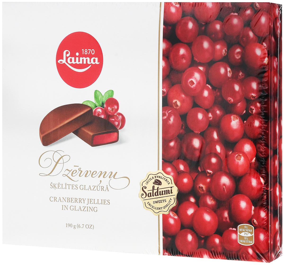 Laima Клюквенные дольки в глазури мармелад в шоколаде, 190 гP220401412Клюквенный мармелад а темном шоколаде в виде долек в подарочном оформлении.Уважаемые клиенты! Обращаем ваше внимание на то, что упаковка может иметь несколько видов дизайна. Поставка осуществляется в зависимости от наличия на складе.
