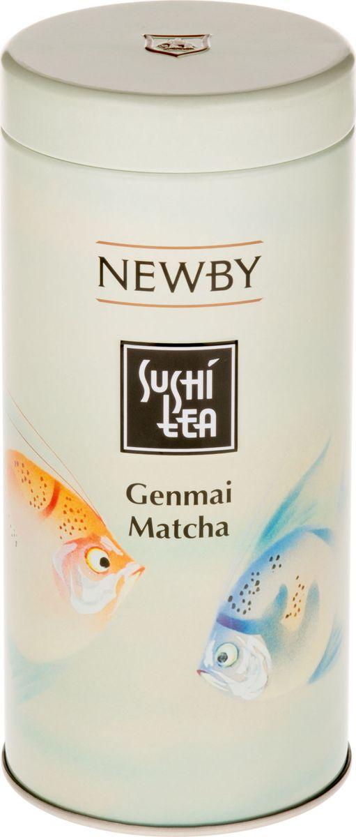 Newby Sushi tea Genmai Matcha зеленый листовой чай, 100 г бамбук матча канистра зеленый чай кэдди