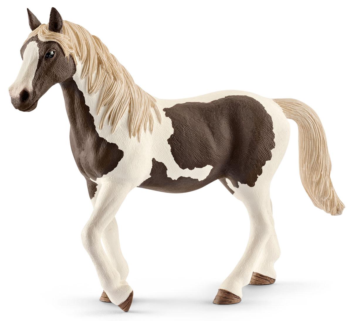 Schleich Фигурка Кобыла Пинто цвет молочный коричневый schleich фигурка кобыла пинто цвет молочный коричневый