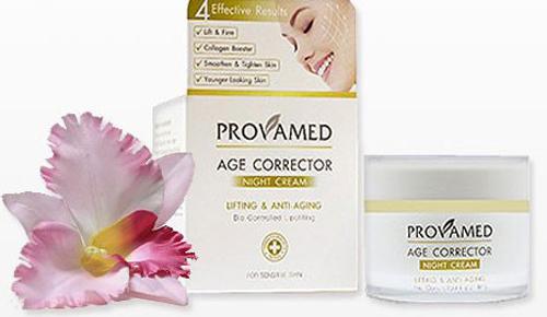 Provamed Антивозрастной ночной крем (Age Corrector Night Cream), 50 гр.2270Эффективно уменьшает морщины, подтягивает кожу лица, обладая лифтинг - эффектом. При регулярном использовании восстанавливает упругость и гладкость кожи, уменьшает проявление мимических морщин. Входящий в состав крема adipofill -комплекс обеспечивает липофилинг, снижает глубину носогубных складок, разглаживает лицо, снимает видимую усталость кожи. Экстракт солероса травянистого способен активизировать в коже синтез аквапорина 8, обеспечивая длительное увлажнение. Аминокислоты способствуют поддержанию единой клеточной системы, восстанавливают упругость и плотность кожи, замедляют процессы старения. Соль гиалуроновой кислоты регенерирует ткани, делает кожу мягкой и гладкой, оказывает омолаживающее, увлажняющее, разглаживающее действие.