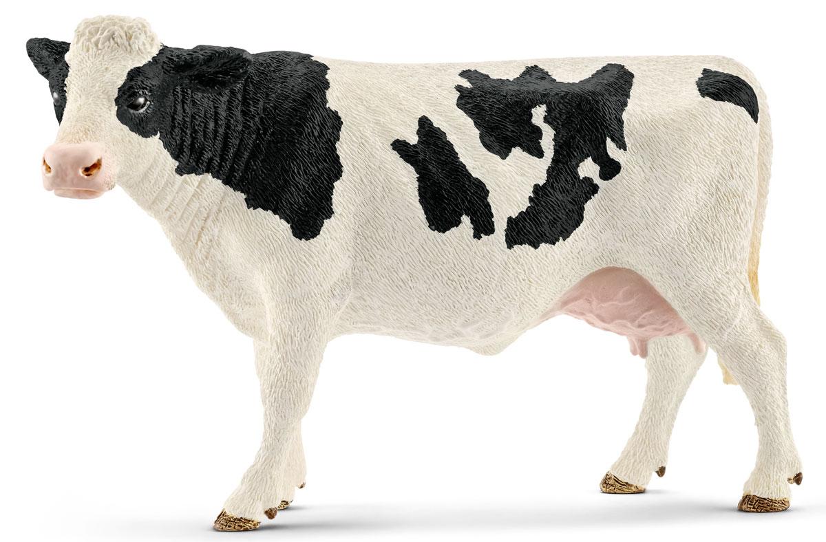 Schleich Фигурка Корова Голштинской породы 13797 бычки казахской белоголовой породы