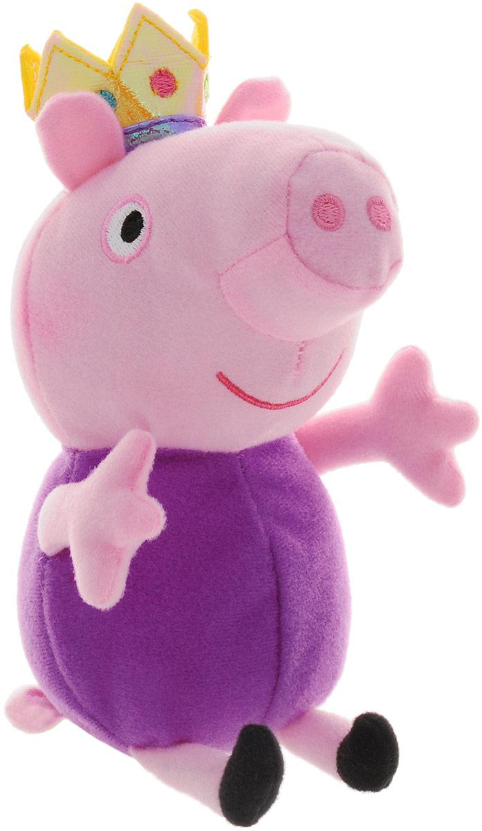 Peppa Pig Мягкая игрушка Джордж-принц 20 см мягкая игрушка peppa pig джордж с машинкой свинка розовый текстиль 18 см 29620