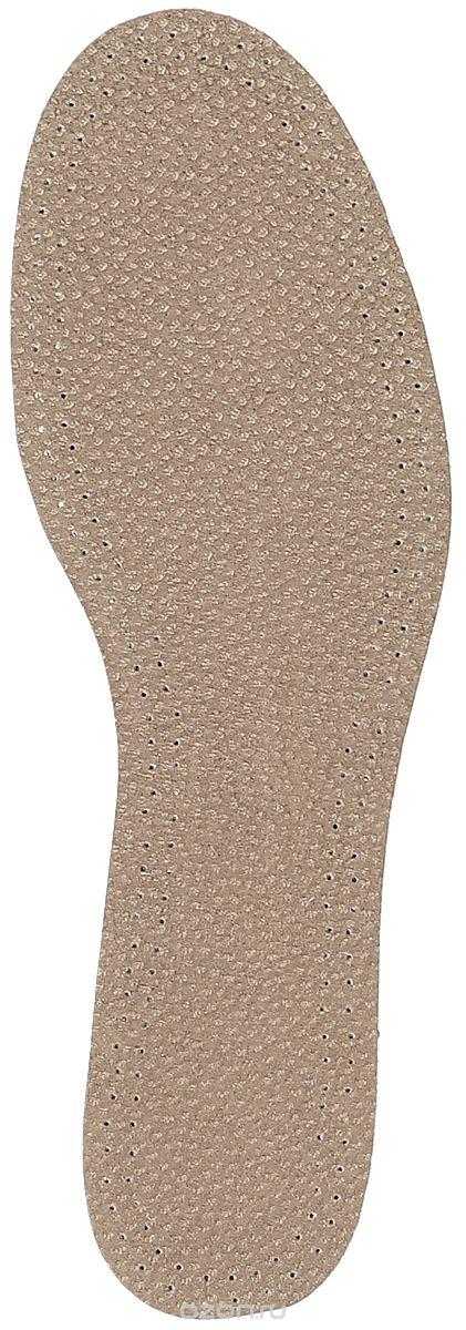 Стелька OmaKing, цвет: коричневый. T-440-45. Размер 44/45T-440-45Кожаные стельки изготовлены из эластичной свиной кожи на подкладке из латекса с содержанием активированного угля, который помогает предотвратить запах, впитывает влагу и создаёт благоприятный микроклимат для ног.