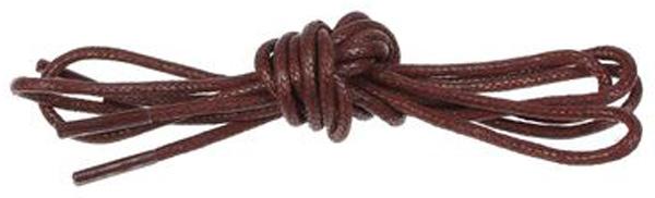 Шнурки вощеные Wisdom, круглые, средние, цвет: коричневый, 75 см