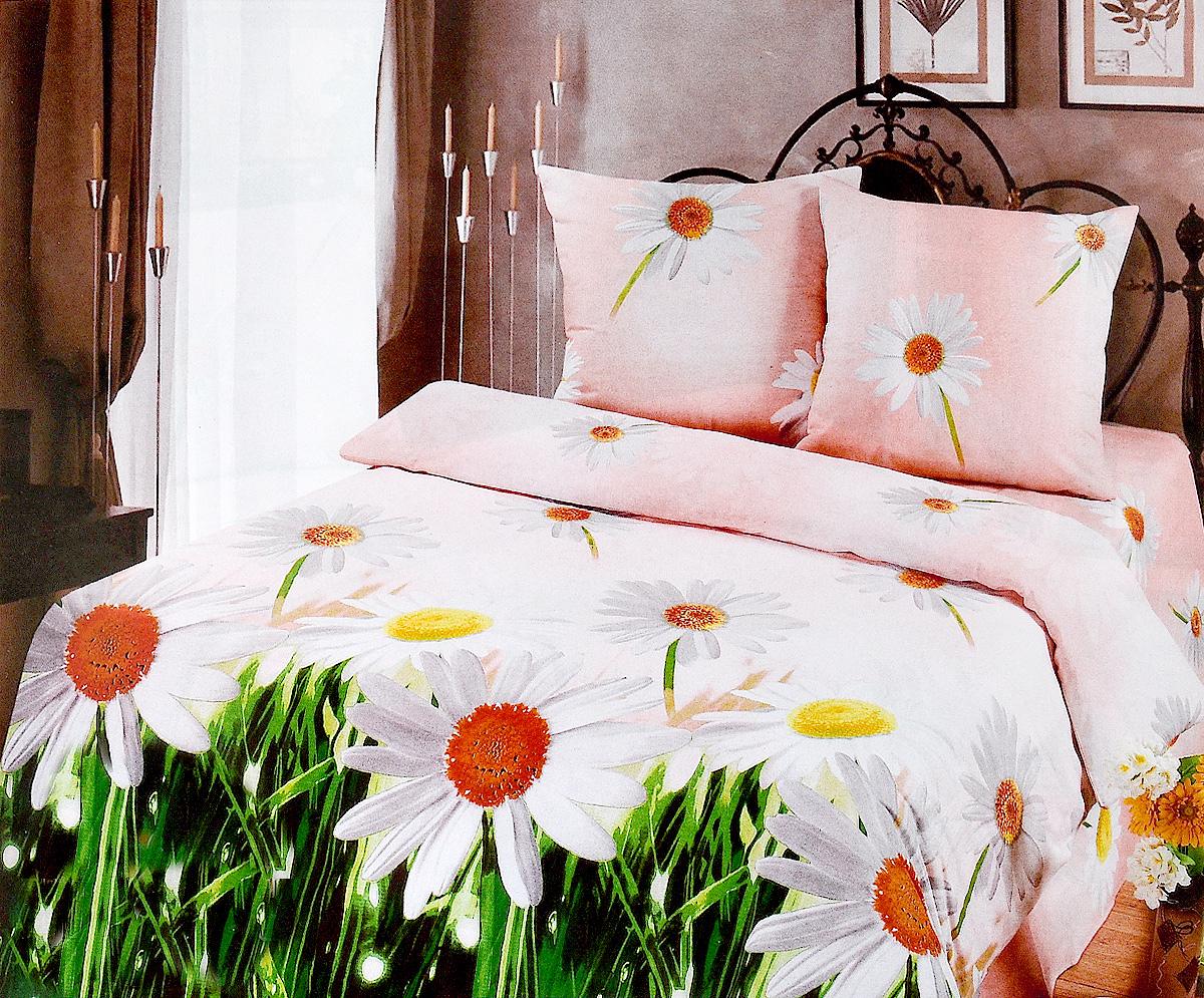Комплект белья Арт Постель Ромашки, 2-спальный, наволочки 70x70 комплект белья арт постель березовая роща семейный кпб из 5 предметов бязь люкс наволочки 70х70