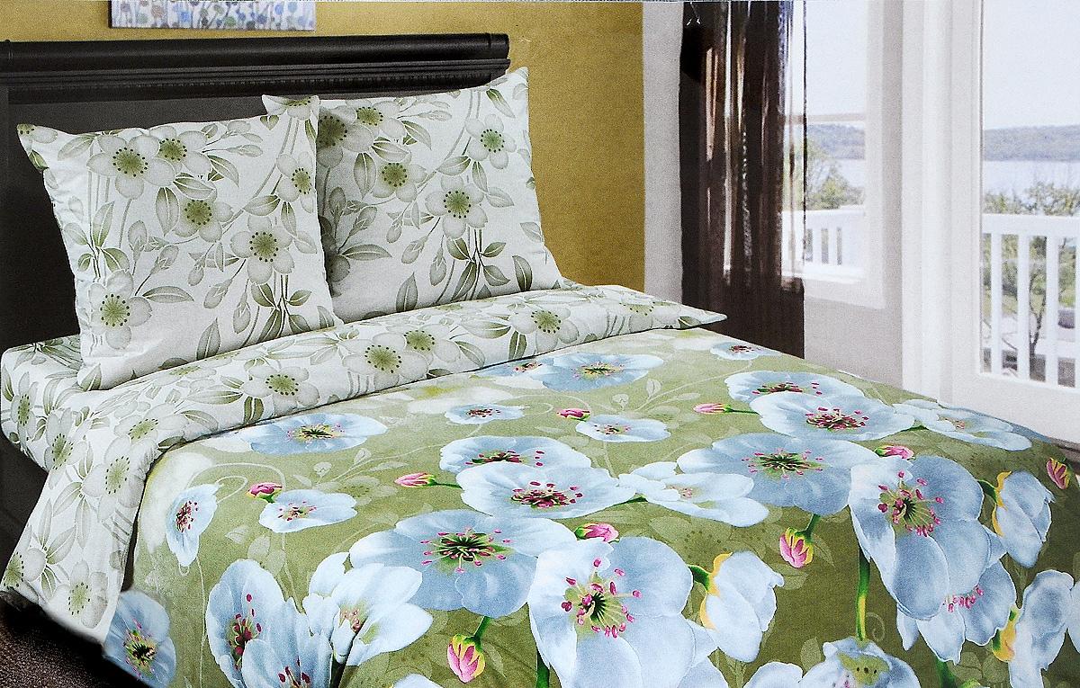 Комплект белья Арт Постель Перламутр, 1,5 спальный, наволочки 70x70 комплект белья арт постель подснежник 1 5 спальный наволочки 70х50 и 70x70 цвет белый зеленый желтый